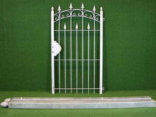 Zauntür Angebot 119 in massiver Stahlbauweise - Breite: 107cm, Höhe: 165cm
