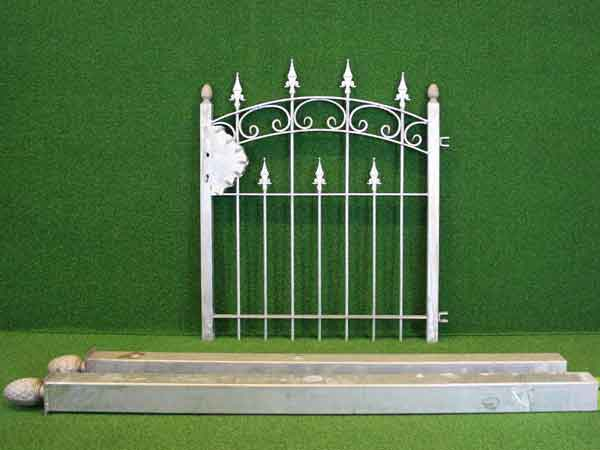 Gartentürchen Angebot 88-1 in massiver Stahlbauweise - Breite: 107cm, Höhe: 110cm