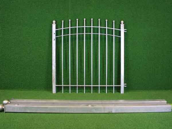 Gartentür Angebot 57-4 in massiver Stahlbauweise - Breite: 118cm, Höhe: 118cm