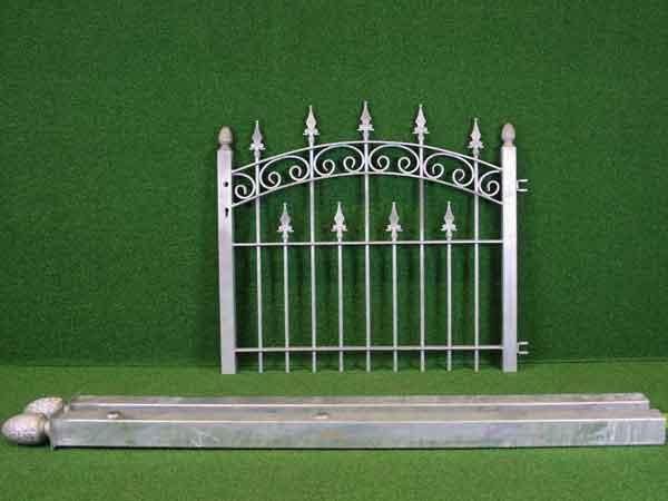 Gartentürchen Angebot 72-1 in massiver Stahlbauweise - Breite: 110cm, Höhe: 88cm