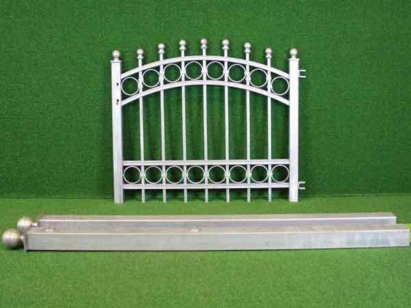 Gartentür Angebot 147-2 in massiver Stahlbauweise - Breite: 110cm, Höhe: 87cm