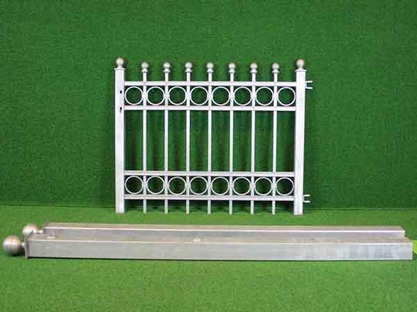 Gartentür Angebot 149-5 in massiver Stahlbauweise - Breite: 110cm, Höhe: 87cm