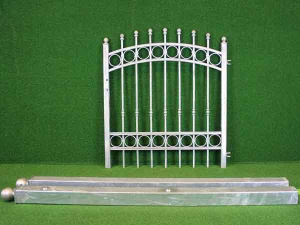 Eisentür Angebot 163 in massiver Stahlbauweise - Breite: 121cm, Höhe: 126cm