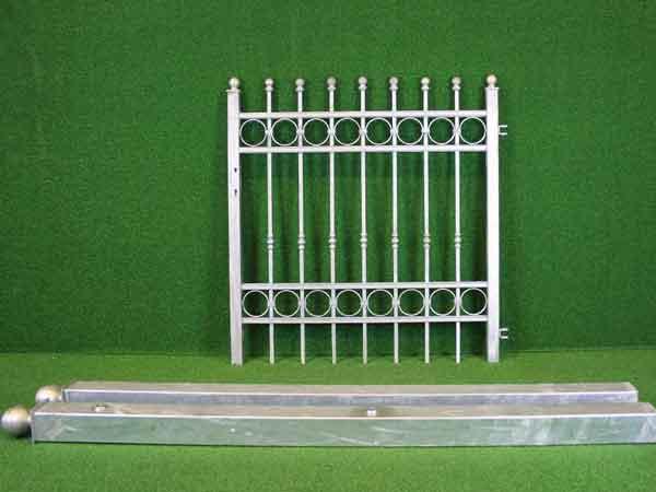 Metalltür Angebot 164-1 in massiver Stahlbauweise - Breite: 121cm, Höhe: 126cm