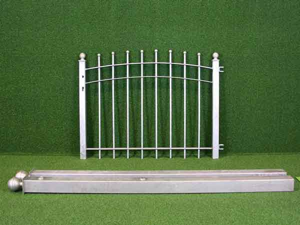 Metalltür Angebot 230-2 in massiver Stahlbauweise - Breite: 118cm, Höhe: 88cm