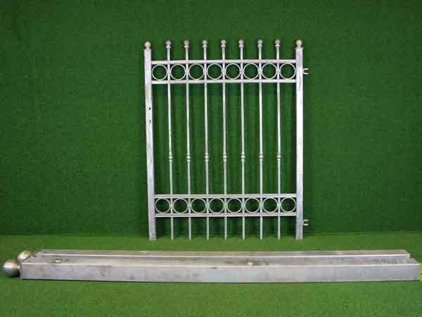 Zauntür Angebot 179-1 in massiver Stahlbauweise - Breite: 121cm, Höhe: 151cm