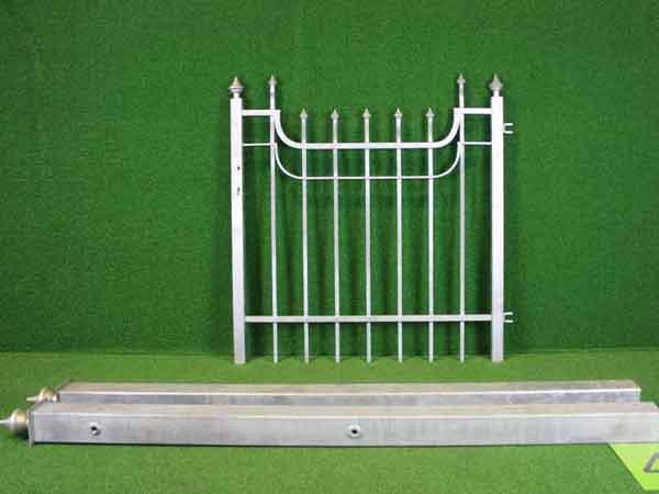 Metalltür Angebot 203 in massiver Stahlbauweise - Breite: 122cm, Höhe: 125cm