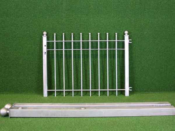 Zauntür Angebot 44 in massiver Stahlbauweise - Breite: 118cm, Höhe: 88cm