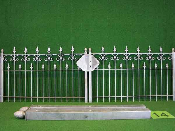 Hoftor Angebot 85 in massiver Stahlbauweise - Breite: 310cm, Höhe: 108cm