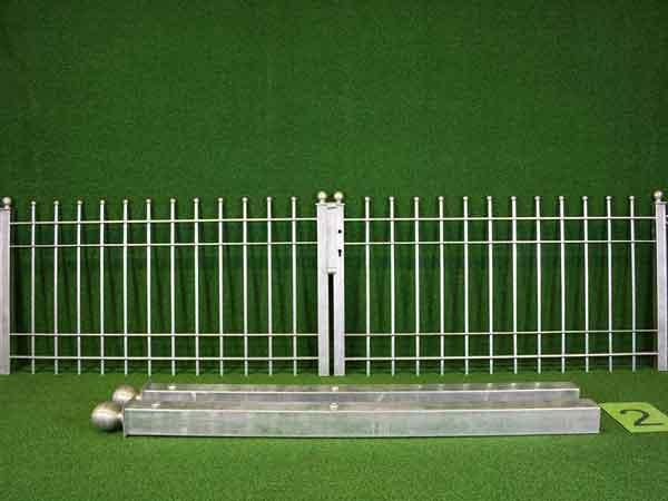 Zauntor Angebot 40-2 in massiver Stahlbauweise - Breite: 287cm, Höhe: 88cm