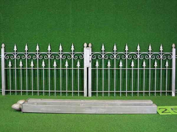Toranlage Angebot 69-2 in massiver Stahlbauweise - Breite: 301cm, Höhe: 89cm