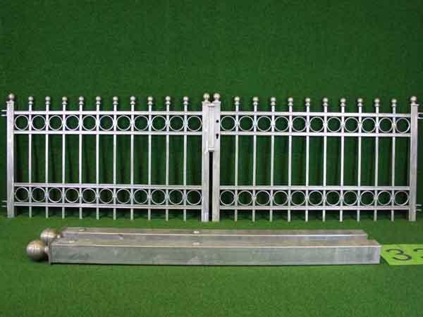 Eisentor Angebot 144-2 in massiver Stahlbauweise - Breite: 295cm, Höhe: 88cm
