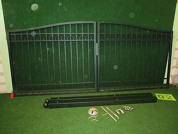 Hoftor Angebot 501 in massiver Stahlbauweise - Breite: 400cm, Höhe: 150cm