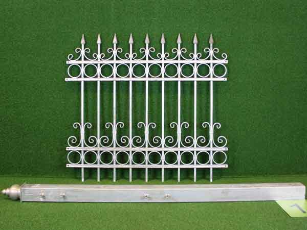 Vorgartenzaun Angebot 17 in massiver Stahlbauweise - Breite: 135cm, Höhe: 125cm
