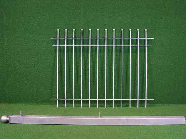 Eisenzaun Angebot 62 in massiver Stahlbauweise - Breite: 81cm, Höhe: 115cm