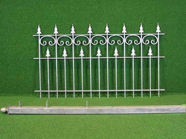 Zaunfeld Angebot 74 in massiver Stahlbauweise - Breite: 150cm, Höhe: 85cm
