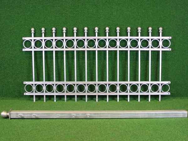 Stahlgitterzaun Angebot 150 in massiver Stahlbauweise - Breite: 168cm, Höhe: 85cm