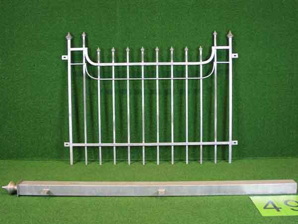 Gitterzaun Angebot 204 in massiver Stahlbauweise - Breite: 192cm, Höhe: 125cm