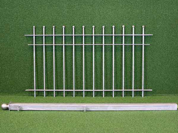 Gartenzaun Angebot 48 in massiver Stahlbauweise - Breite: 81cm, Höhe: 85cm