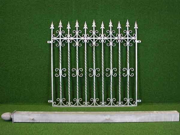 Metallzaun Angebot 33 in massiver Stahlbauweise - Breite: 87cm, Höhe: 124cm