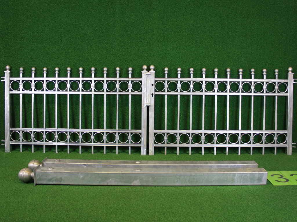 Hoftor Angebot 144-1 in massiver Stahlbauweise - Breite: 295cm, Höhe: 88cm